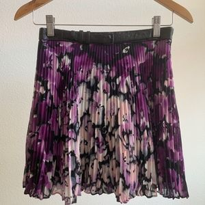 BCBGeneration Belted Mini Pleated Skirt Size 2